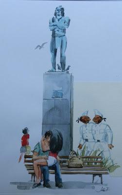 Quadros de artista gaúcho retratam a cidade