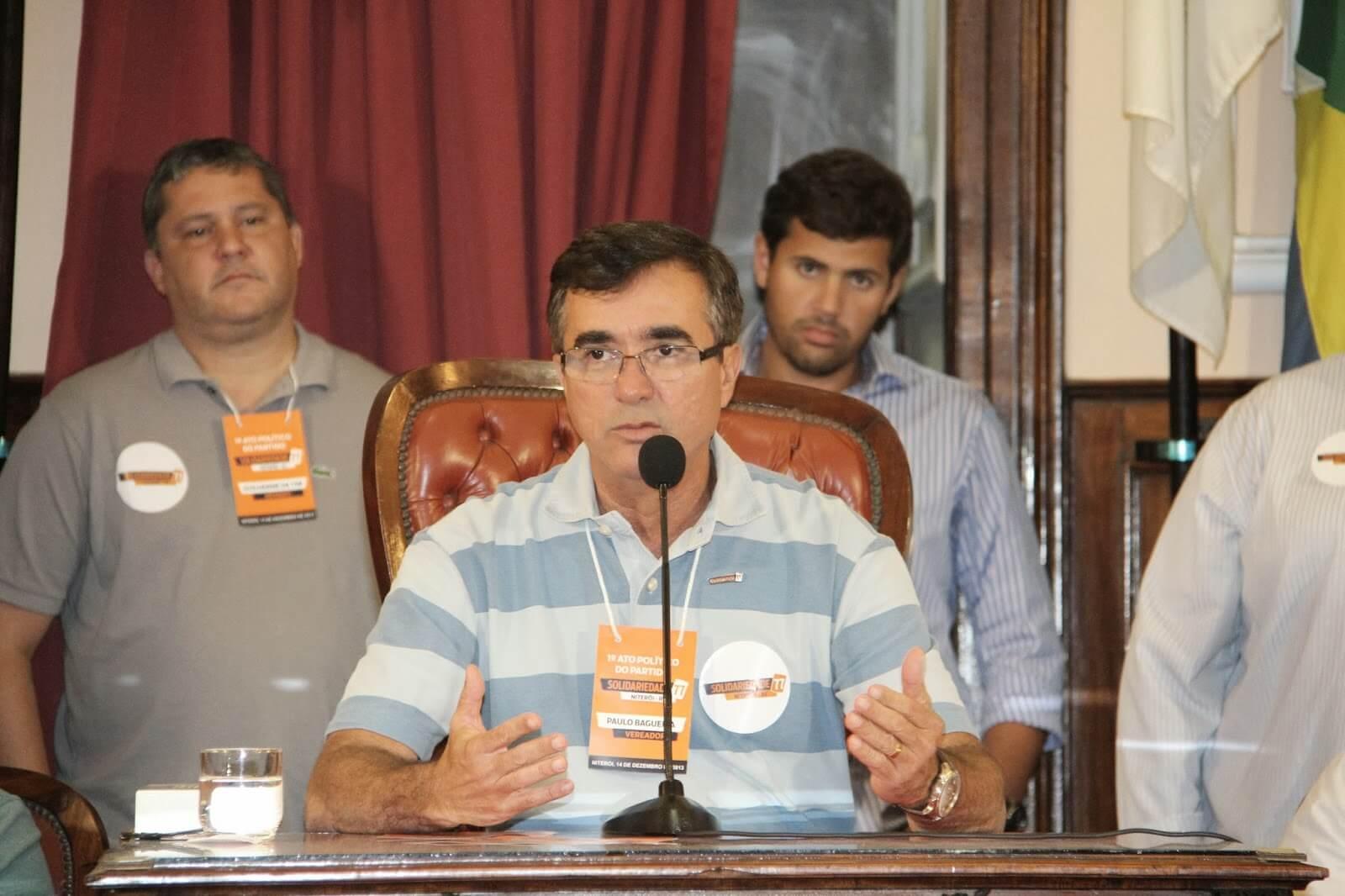 Bagueira é o presidente do Partido Solidariedade em Niterói