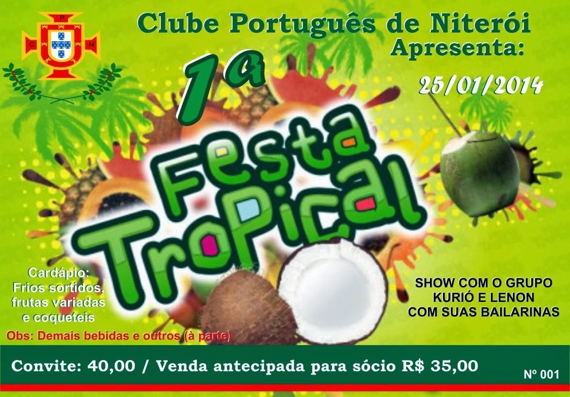 Festa Tropical no Clube Português