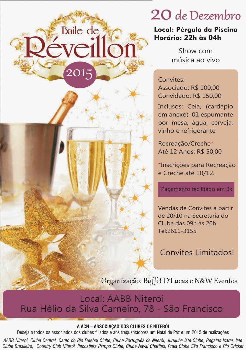 ACN promove baile de pré-reveillon na AABB Niterói