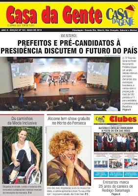 Leia a edição de Maio/2018 do Jornal Casa da Gente