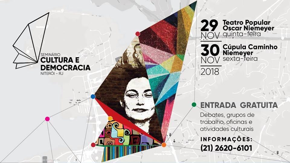 Seminário Cultura e Democracia acontece nesta quinta e sexta em Niterói