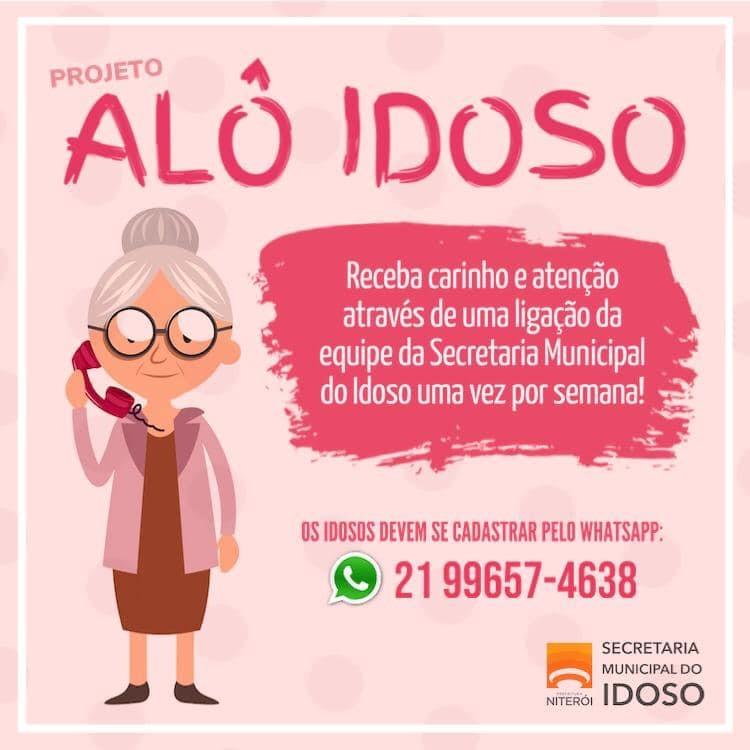 Secretaria do Idoso de Niterói tem canal de atendimento para a terceira idade durante isolamento social