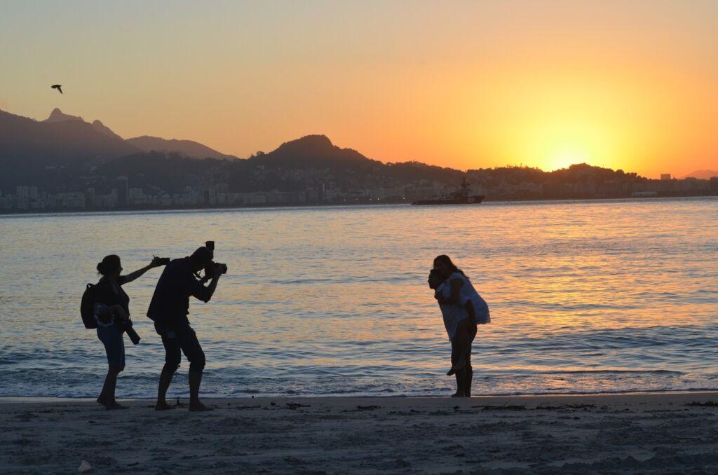 foto Luana Dias Recantos para admirar o por do sol na cidade de Niterói