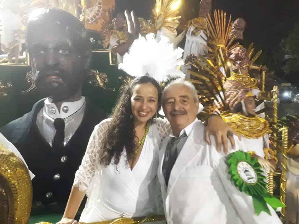Luana e Mario no Carnaval 2020 Uma breve carta de uma filha sobre o seu Pai
