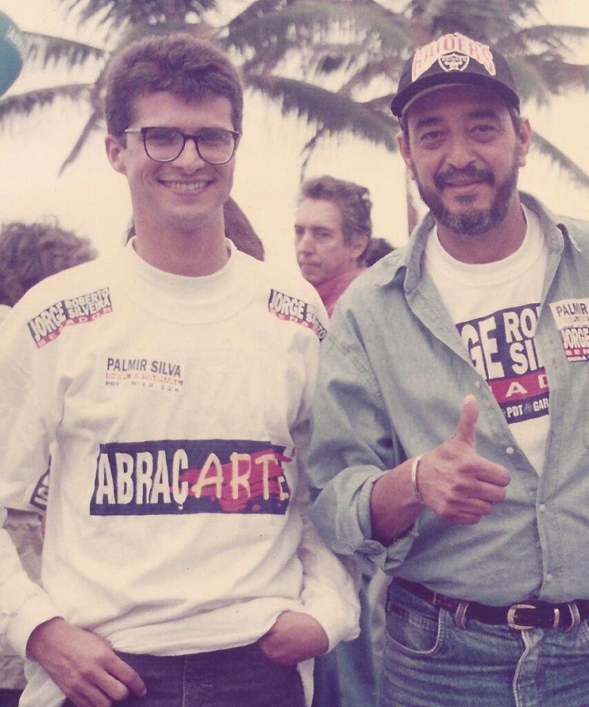 Mario Dias e Vinicius Martins no registro em 1996 O Adeus a Mário Dias