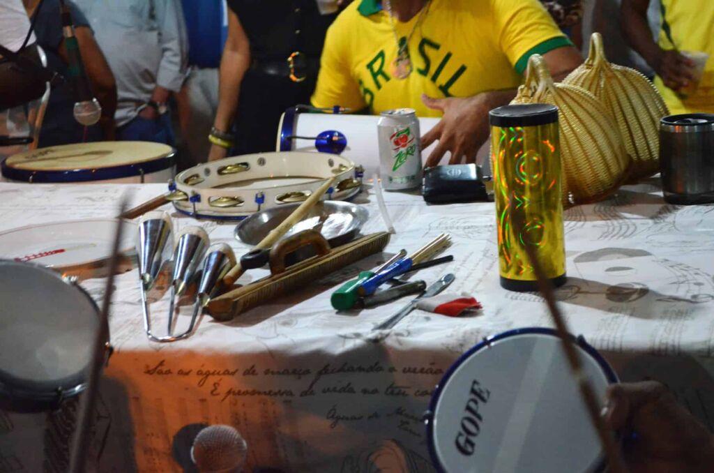 Instrumentos roda Samba do Trabalhador Luana Dias 1 Congresso Nacional discutirá a genealogia do Samba